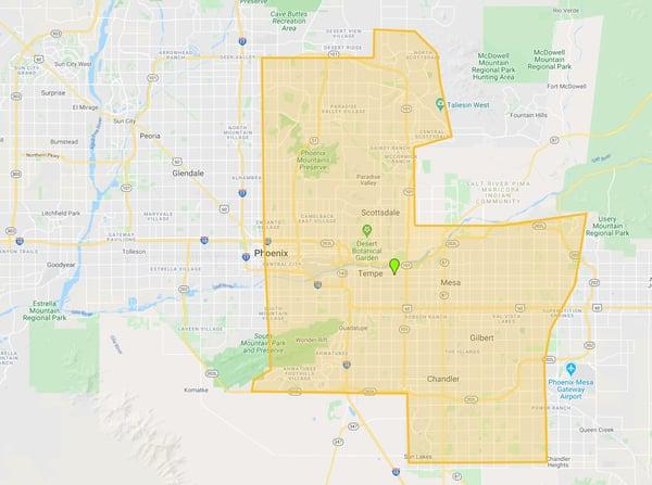 Hochuli Service Area Map