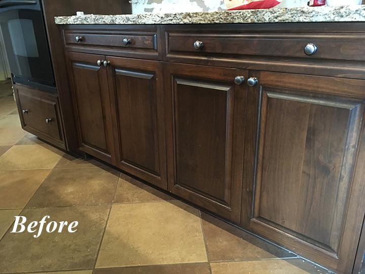 White oak cabinets in chandler kitchen remodel