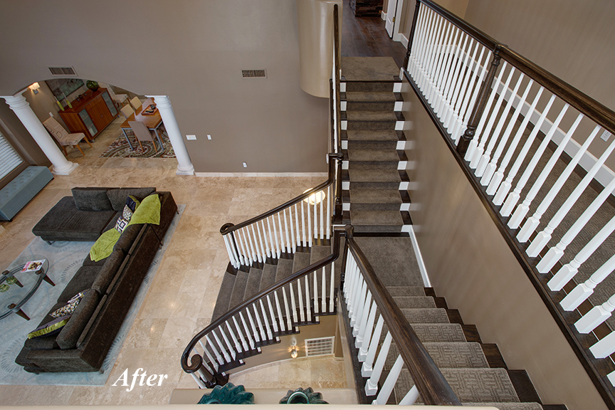 After picture of PHX Stairway Remodel