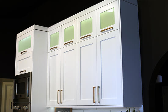 Kitchen remodel with white shaker cabinets