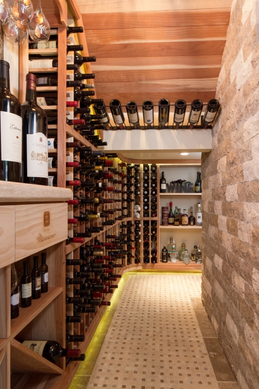phoenix home remodeling and interior design of wine cellar
