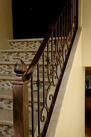 Custom Iron Stair Railing in Phoenix, AZ