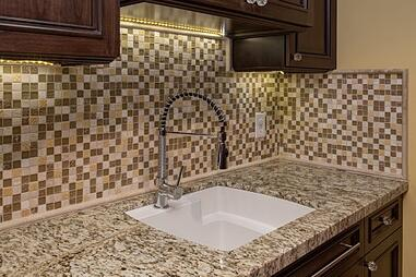 Glass Mosaic Tile in Phoenix, AZ Laundry Room Remodel