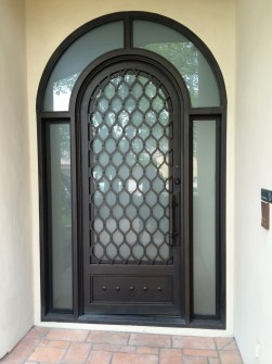 Phoenix Home Remodel Contractor Iron Front Door