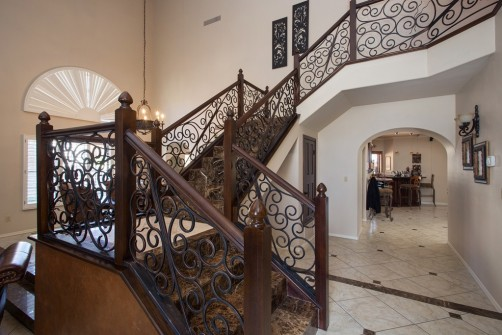 Stair Railings and Tile Flooring