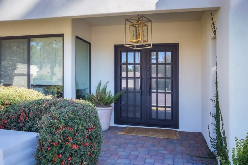 Iron Front Door & Entry Chandelier in Scottsdale, AZ