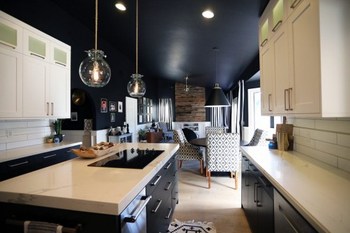 Black painted walls in Kitchen Remodeling