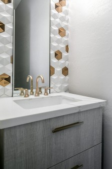 Phoenix Home Remodeling Contractor Gold and White Tile