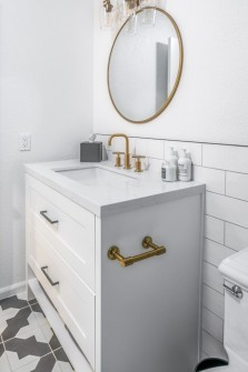 Scottsdale Bathroom Remodel with White Cabinets
