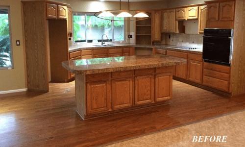 Phoenix Kitchen Remodel Before & After Kitchen Island
