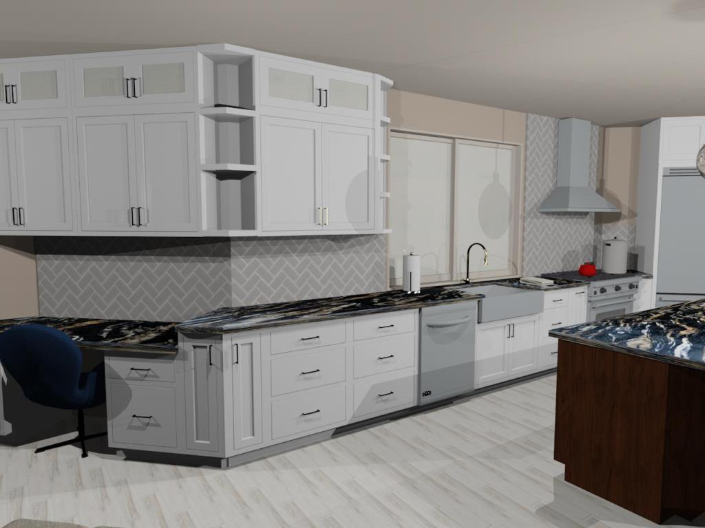 computer rendering of kitchen remodel