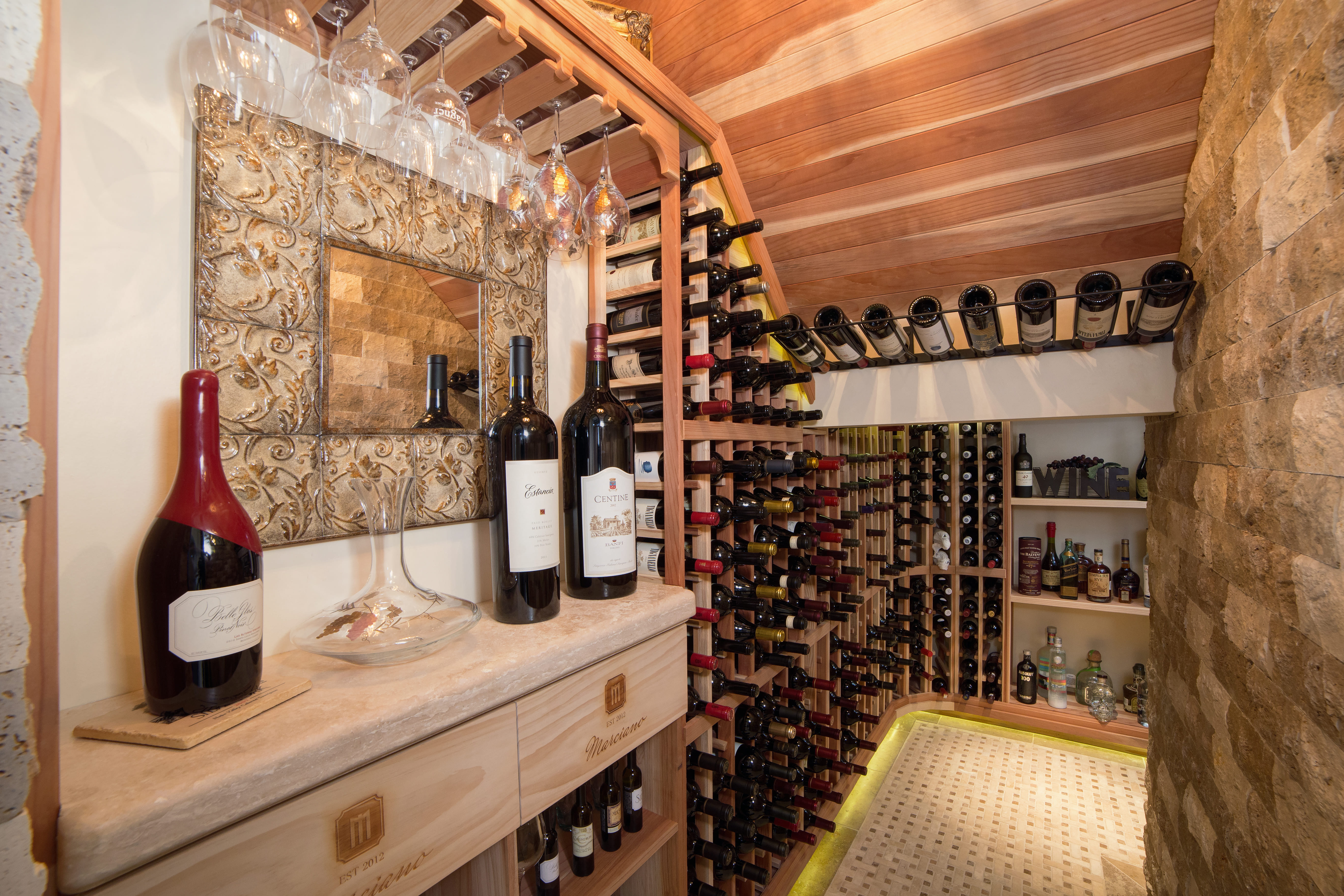 custom design build wine cellar contractor